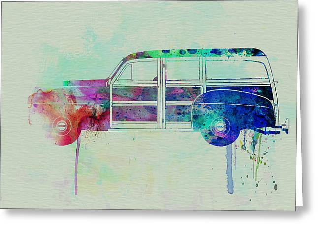 Woodies Greeting Cards - Ford Woody Greeting Card by Naxart Studio