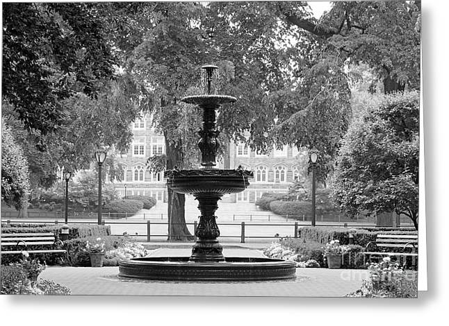 Fordham University Fountain Greeting Card by University Icons