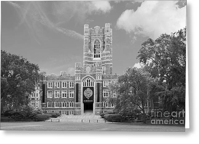 Building Exterior Photographs Greeting Cards - Fordham University Keating Hall Greeting Card by University Icons