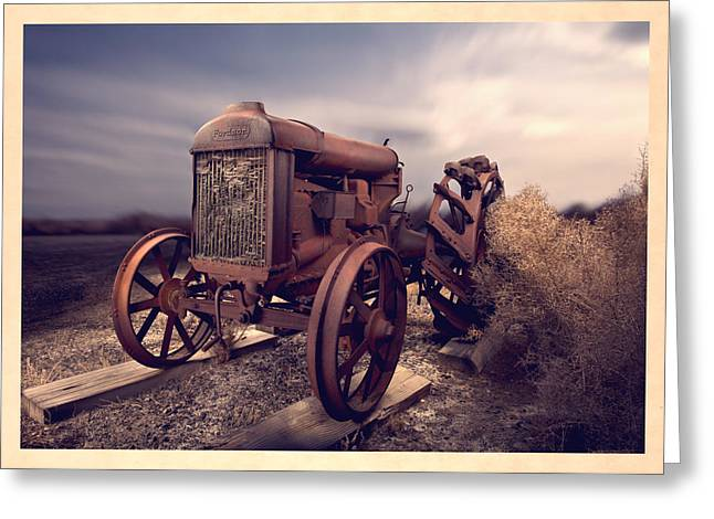 Old Paint Greeting Cards - Fordson F Tractor Greeting Card by Yo Pedro