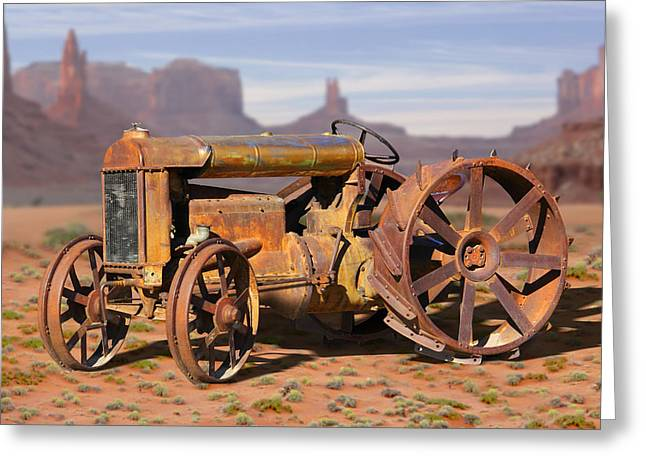 Equipment Greeting Cards - Fordson Tractor Greeting Card by Mike McGlothlen