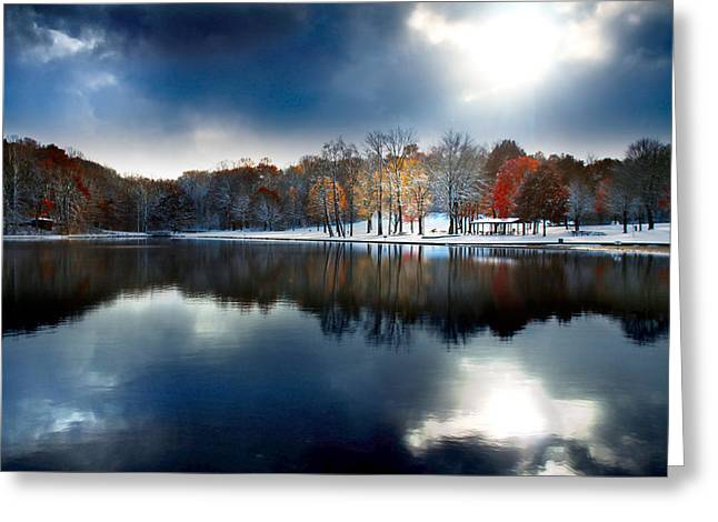Winter Storm Greeting Cards - Foreboding Beauty Greeting Card by Rob Blair