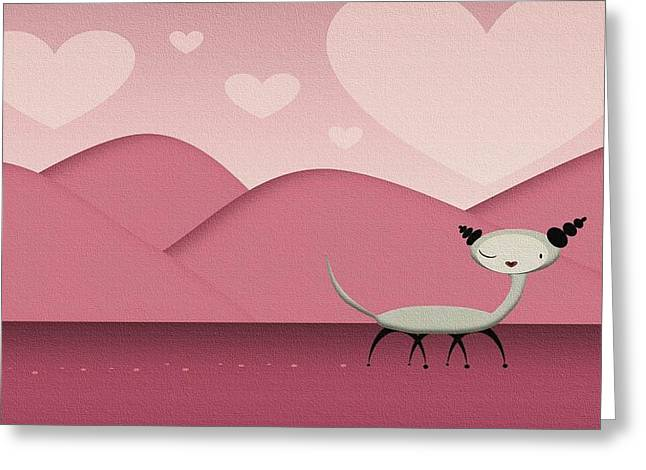 Foreign Love Greeting Card by Kate Paulos