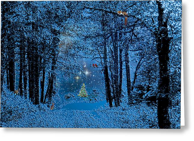 Christmas Greeting Greeting Cards - Forest Animal Christmas Greeting Card by Michele  Avanti