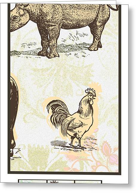 Reflection Harvest Mixed Media Greeting Cards - Forest Animals group 3 suitable for hanging frames Greeting Card by Art World