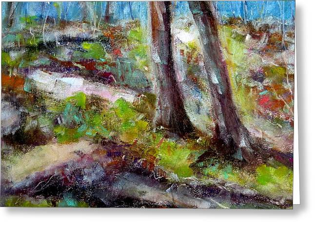 Occasion Paintings Greeting Cards - Forest Carpet Greeting Card by Katie Black