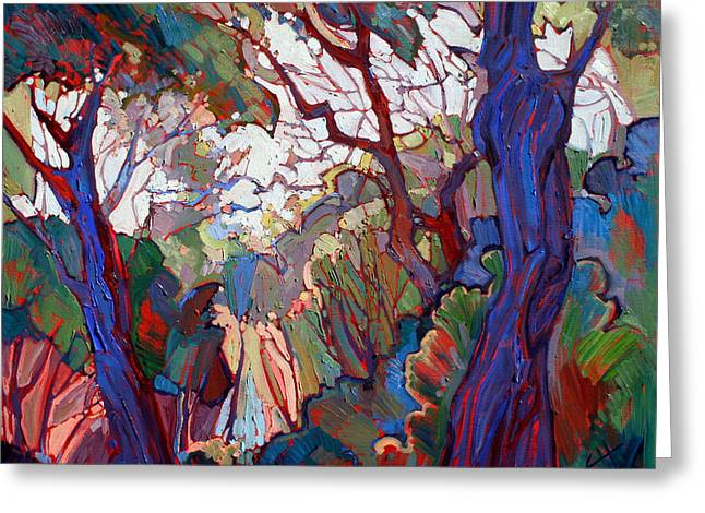 Paso Robles Greeting Cards - Forest Deep Greeting Card by Erin Hanson
