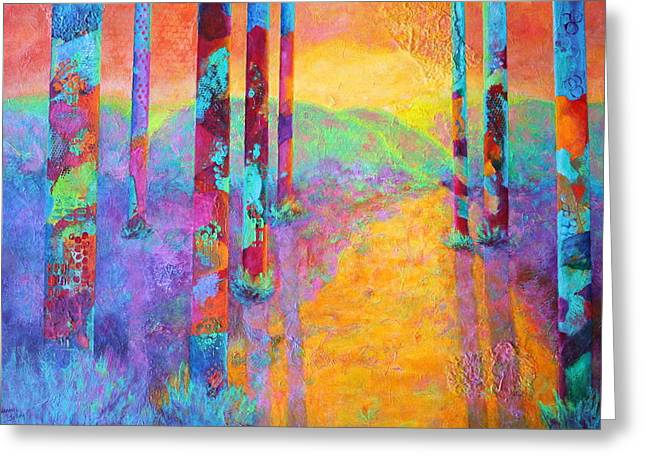 Forest Fantasy Greeting Card by Nancy Jolley