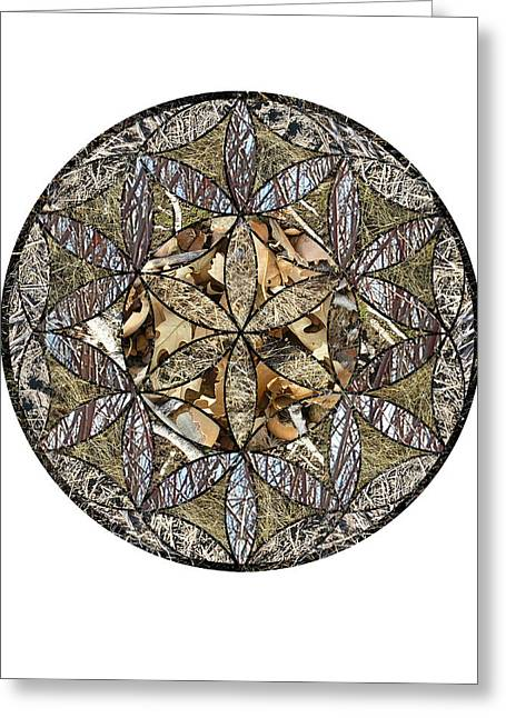Sacred Geometry Greeting Cards - Forest Floor 3 Greeting Card by Sacred Geometry