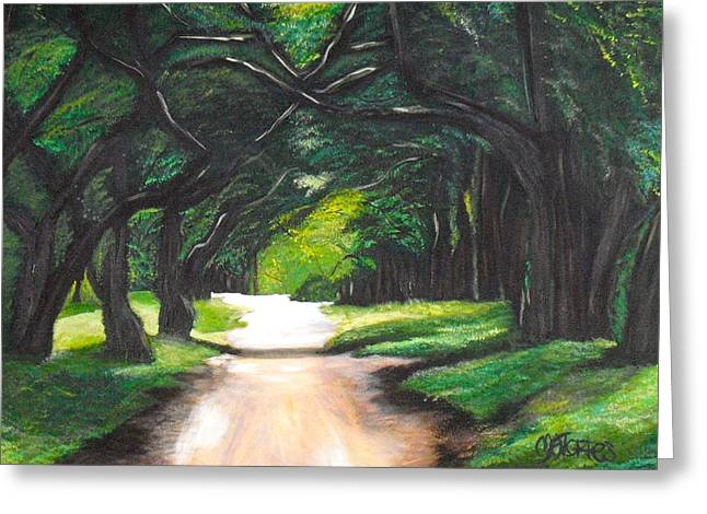 Forest Full Of Trees Greeting Card by Melissa Torres