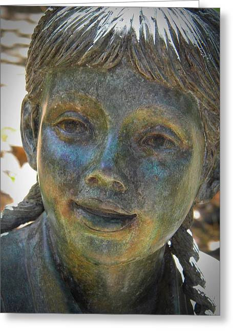 Garden Statuary Greeting Cards - Forest Girl Greeting Card by Frank Wilson