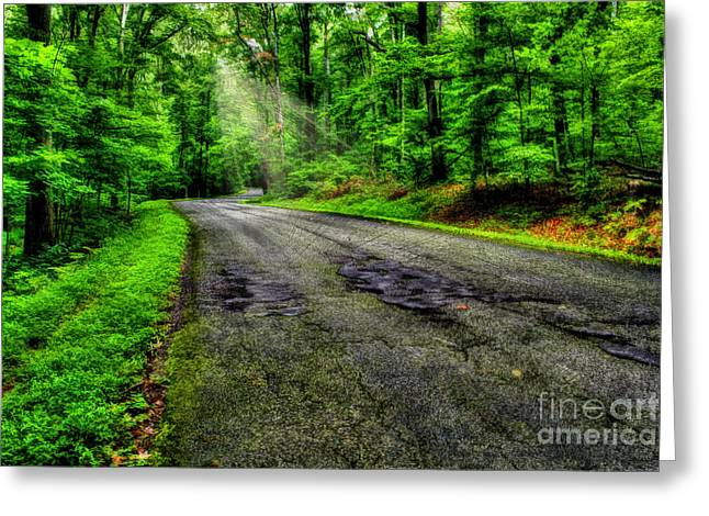 Mystic Art Greeting Cards - Forest Hill Drive Greeting Card by Darren Fisher