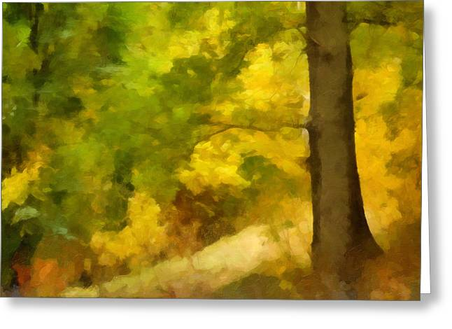 Late-summer Greeting Cards - Autumn Forest Impression Greeting Card by Lutz Baar