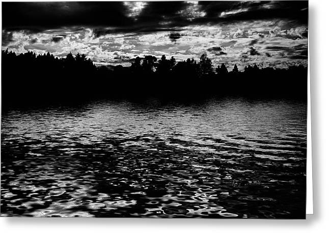 Lightscapes Greeting Cards - Forest Lake Greeting Card by Hakon Soreide