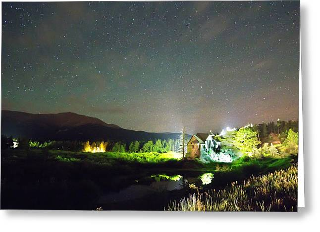 Chapel On The Rock Photographs Greeting Cards - Forest of Stars Above The Chapel on the Rock Greeting Card by James BO  Insogna