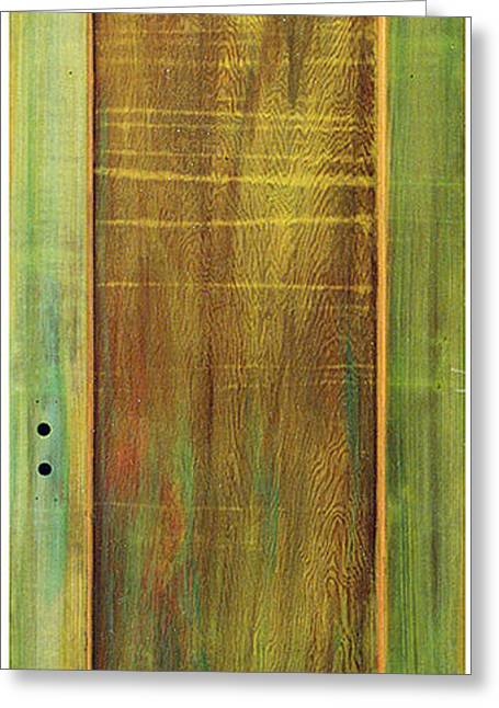 Fine Art Prints Sculptures Greeting Cards - Forest Painted Door Greeting Card by Asha Carolyn Young