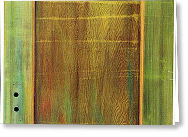 Forest Painted Door Greeting Card by Asha Carolyn Young