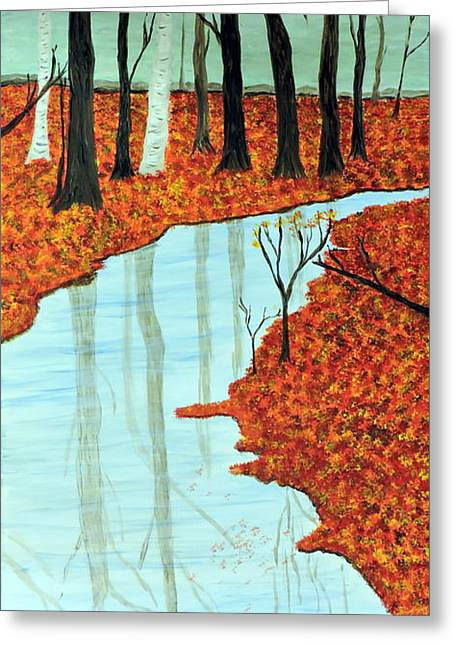 Forest Floor Paintings Greeting Cards - Forest Quilt Greeting Card by Doug Wilkie