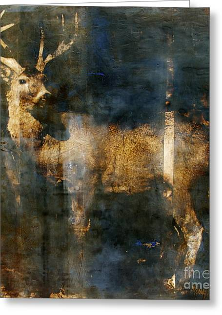 Encaustic Greeting Cards - Forest Soul Greeting Card by Mary Leslie