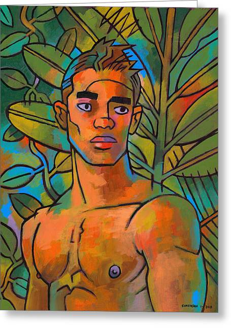 Male Greeting Cards - Forest Spirit 2 Greeting Card by Douglas Simonson