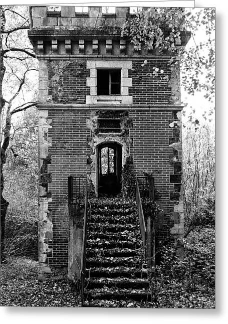 Abandoned Houses Greeting Cards - Forest Tower Greeting Card by Nomad Art And  Design