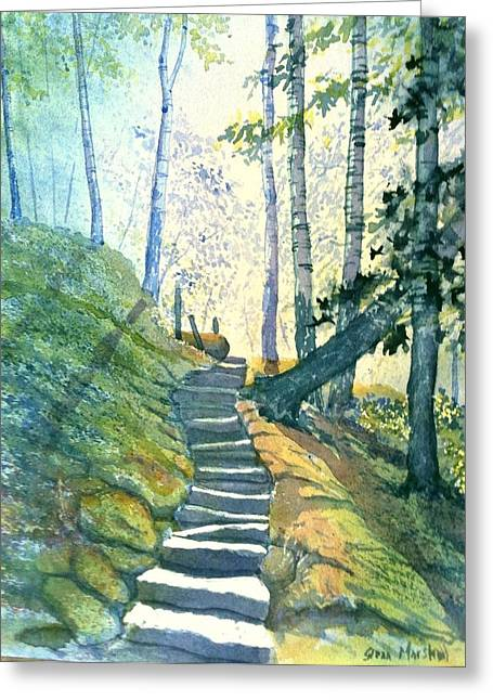 Forest Trod Greeting Card by Glenn Marshall