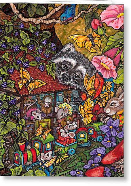 Storybook Greeting Cards - Forest Whimsey Greeting Card by Sherry Dole