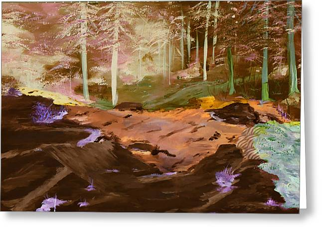 Gail Daley Greeting Cards - Forests of Alpha Centari Greeting Card by Gail Daley