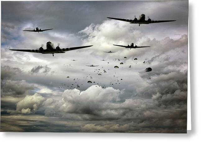 Carrier Greeting Cards - Forever Airborne Greeting Card by Jason Green