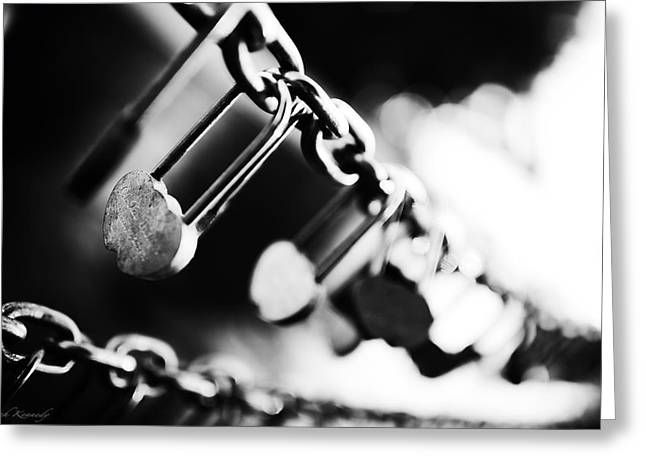 Padlock Greeting Cards - Forever And A Day Greeting Card by Leah Kennedy