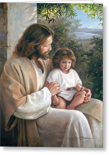 Eyes Paintings Greeting Cards - Forever and Ever Greeting Card by Greg Olsen