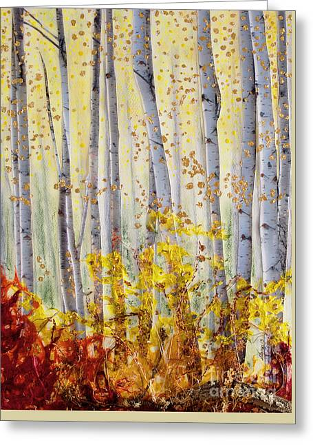 Stanza Widen Greeting Cards - Forever Autumn Greeting Card by Stanza Widen