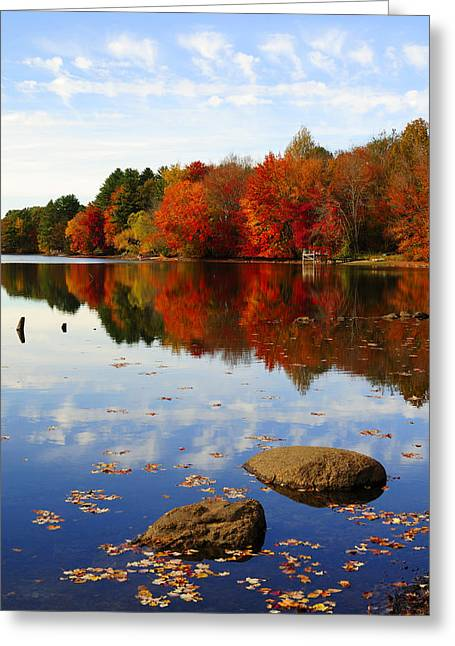 Lovely Pond Greeting Cards - Forever Autumn Greeting Card by Luke Moore