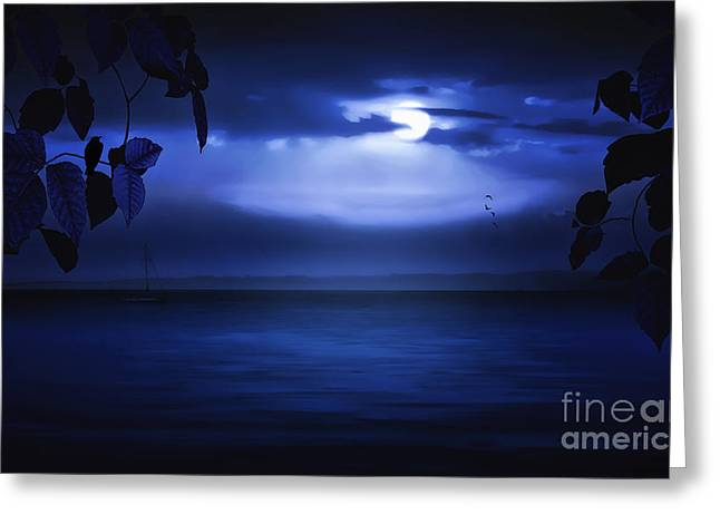 Sailboat Ocean Greeting Cards - Forever Blue Greeting Card by Tom York Images