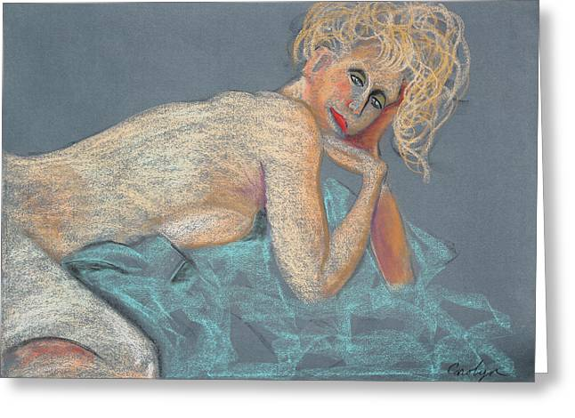 Pale Lipstick Greeting Cards - Forever Coquette Greeting Card by Asha Carolyn Young