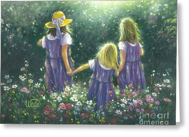 Vickie Wade Paintings Greeting Cards - Forever Friends Greeting Card by Vickie Wade