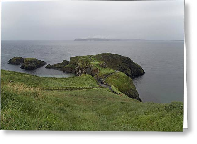 Forever Green Carrick-a-rede Northern Ireland Greeting Card by Betsy C Knapp