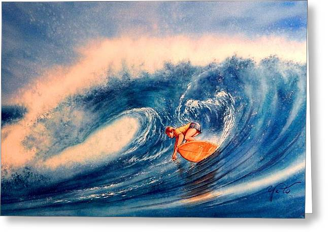 Wave Image Greeting Cards - Forever Lasting Ride Greeting Card by John YATO