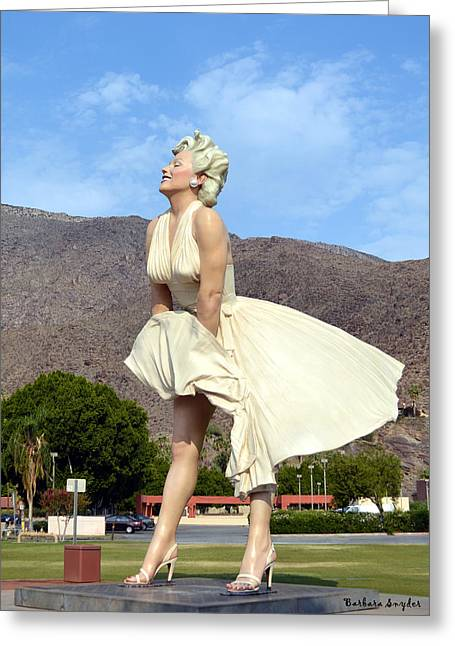 Seven Year Itch Greeting Cards - Forever Marilyn II Greeting Card by Barbara Snyder