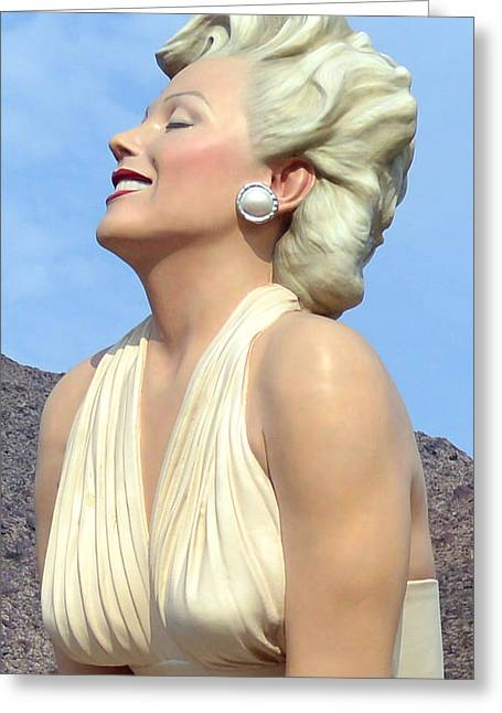 Seven Year Itch Greeting Cards - Forever Marilyn III Greeting Card by Barbara Snyder