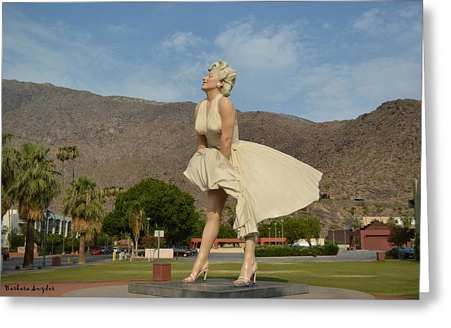 Seven Year Itch Greeting Cards - Forever Marilyn Sculpture  Greeting Card by Barbara Snyder