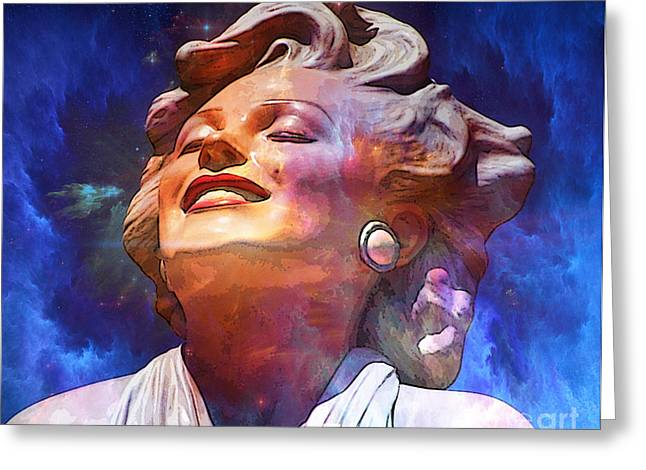 Norma Jean Mixed Media Greeting Cards - Forever Marilyn  Starstruck 2 Greeting Card by Tammera Malicki-Wong