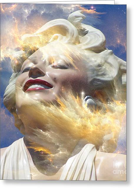 Norma Jean Mixed Media Greeting Cards - Forever Marilyn  Starstruck 4 Greeting Card by Tammera Malicki-Wong