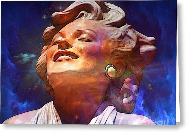 Norma Jean Mixed Media Greeting Cards - Forever Marilyn  Starstruck Greeting Card by Tammera Malicki-Wong