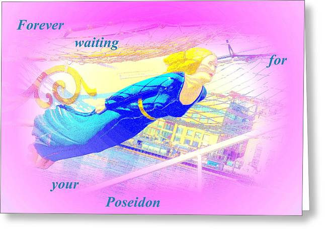 Reciprocally Greeting Cards - forever waiting for your Poseidon Greeting Card by Hilde Widerberg
