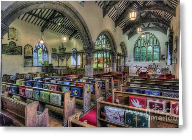 Religion Framed Prints Greeting Cards - Forever With Us Greeting Card by Ian Mitchell