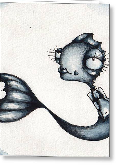 Mystical Drawings Greeting Cards - Forge Ahead Greeting Card by Darnel Tasker