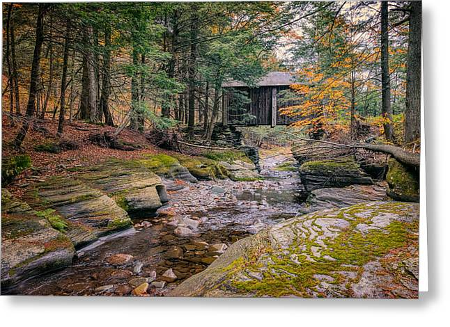 Forge Covered Bridge 2 Greeting Card by Joan Carroll