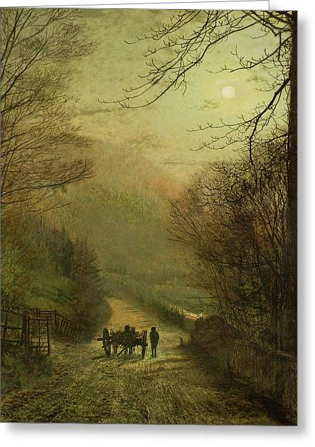 Forge Valley, Scarborough Greeting Card by John Atkinson Grimshaw