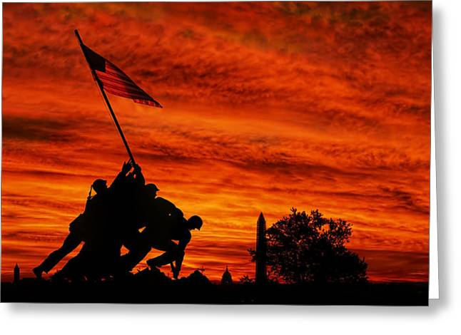 Flag Of Usa Greeting Cards - Forged In Fire Greeting Card by Metro DC Photography